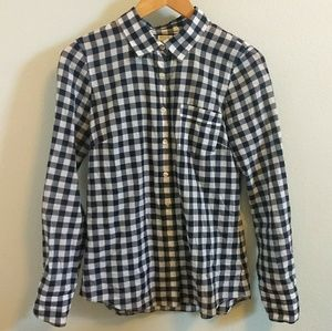 {J. Crew} Perfect Button Down Shirt in Gingham